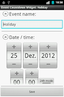 Screenshot of Event Countdown Widget