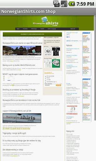 NorwegianShirts.com Shop