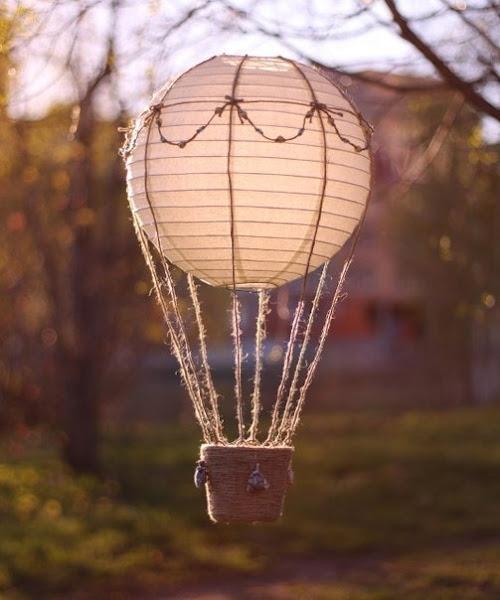 Воздушный фонарик из бумаги