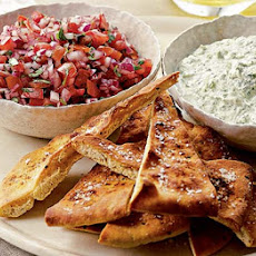Naan Dippers With Fresh Mint & Coriander Raita