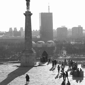 in the sun by Vesna Lavrnja - City,  Street & Park  Street Scenes