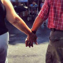 My parents.... 48 years of marriage and still walk hand in hand by Alicia Lara - People Couples (  )