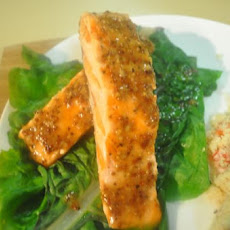 Grilled Creole Mustard-Ginger Glazed Salmon