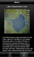 Screenshot of Lake Okeechobee Levels