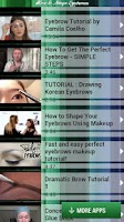 Screenshot of How to Shape Eyebrows