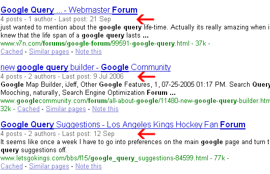 google crawls forums better