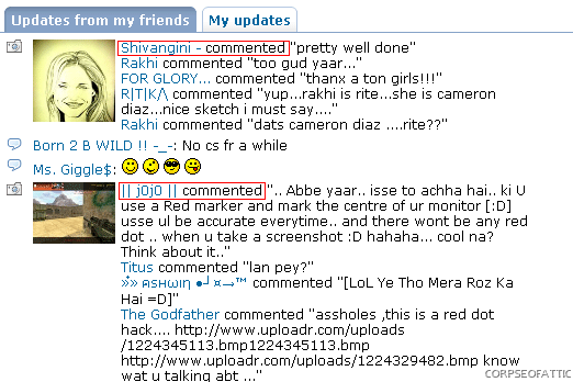 comments-in-orkut-updates