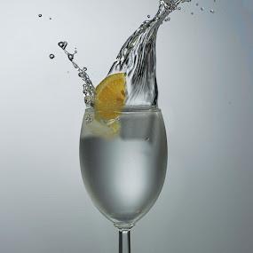splash of lemon  by Earl Wyant - Food & Drink Alcohol & Drinks