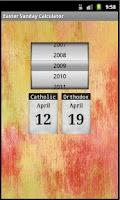 Screenshot of Easter Sunday Calculator