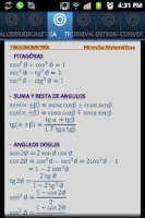 Screenshot of Fórmulas Matemáticas (tablas)
