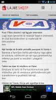 Screenshot of Lajme Shqip Live Albanian News