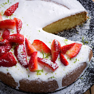 Glazed Strawberry Pound Cake