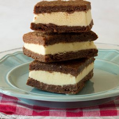 Gluten-Free Brownie Ice Cream Sandwiches