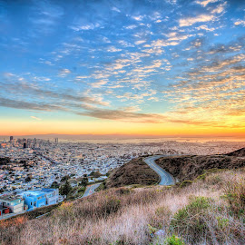 San Francisco Sunrise by Bhargava Chiluveru - Landscapes Sunsets & Sunrises ( hills, hdr, sfo, sunrise, san francisco )