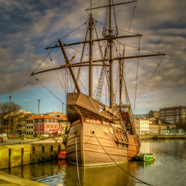 HDR by Jose Moreira - Transportation Boats ( water, hdr, vila do conde, boat, portugal )