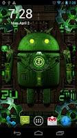 Screenshot of Steampunk Droid Live Wallpaper