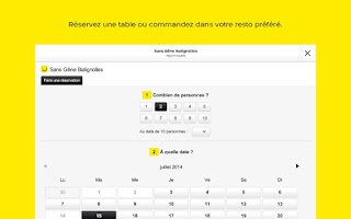 Screenshot of PagesJaunes pour Tablette