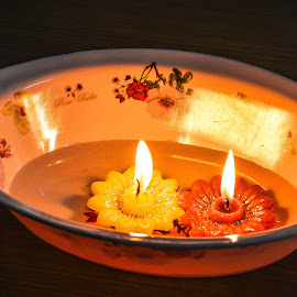 Candle by Subhajit Ganguly - Abstract Fire & Fireworks