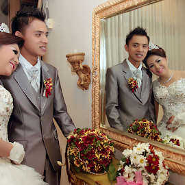 by Chandra Wirawan - Wedding Bride & Groom ( love, happy, wedding, brid, groom )