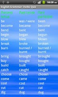 Screenshot of English Grammar: Verbs Free