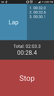 Easy Stopwatch Free - screenshot