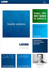 UMB Investor Relations - screenshot