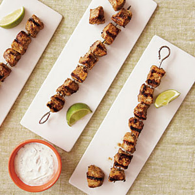 Caribbean-Spiced Chicken Kebabs