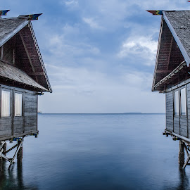 In Between by Yohanes Beny - Buildings & Architecture Other Exteriors ( holiday, wood, indonesia, outdoor, house, seribu, island )