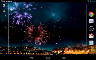 Screenshot of KF Fireworks Free L. Wallpaper