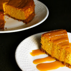 Spiced Pumpkin Cheesecake with Spicy Caramel Sauce