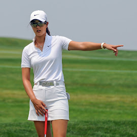 You want me to hit it that way? by Lawrence Kelly - Sports & Fitness Golf ( lpga, golf, 2010 lpga us open, 2010, golfers, us open, lady golfers, oakmont,  )