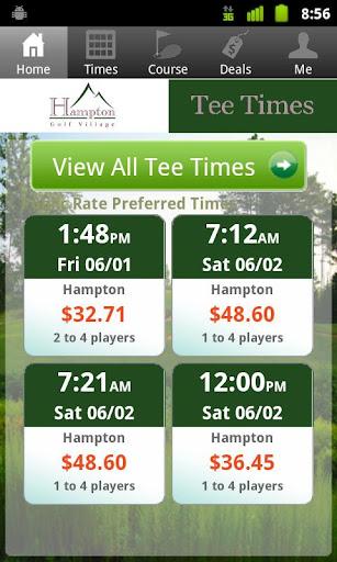 Hampton Golf Village Tee Times