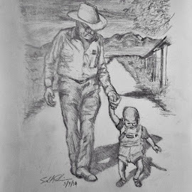 Grandpa and Grandson  by Seth Pahmeier - Drawing All Drawing