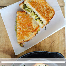 Roasted Brussels Sprouts and Apple Grilled Cheese