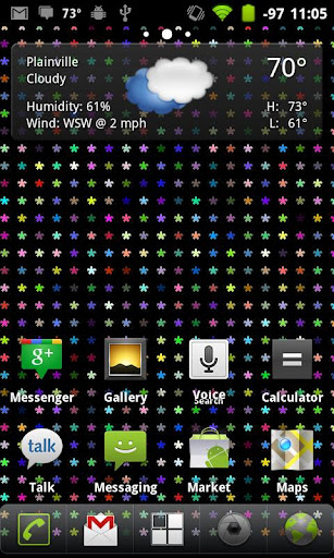 Rainbow Words Live Wallpaper