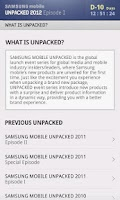 Screenshot of SAMSUNG mobile UNPACKED 2012