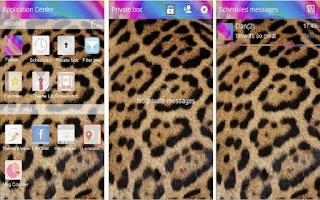 Screenshot of Go Sms theme Cheetah Swirl