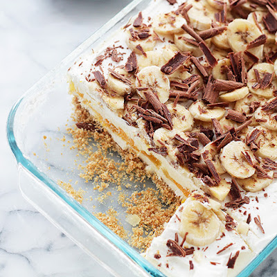 Banana Split No-Bake Cheesecake