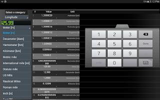 Screenshot of Converter units