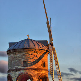 chesterton windmill by Birmingham Fotography - Buildings & Architecture Other Exteriors ( sky, hdr, sunset, dramatic, warmth, dramatic sky, cheserton, windmill )