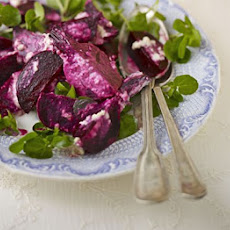 Roasted Beets With Watercress & Horseradish Apple Sauce