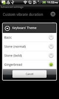Screenshot of Keyboard from Android 2.3 +