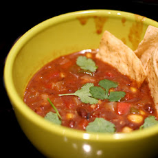 Vegan Refried Bean Soup