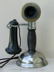 Candlestick Phones - Chicago Bakelite Potbelly Candlestick Telephone