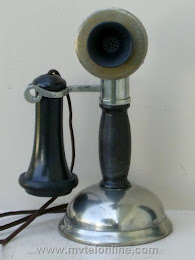 Candlestick Phones - Chicago Bakelite Potbelly Candlestick Telephone 1