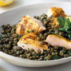 Spiced Salmon With Puy Lentils