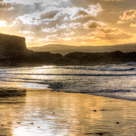 Gwithian Golden Hour by Andy Toby - Landscapes Beaches (  )