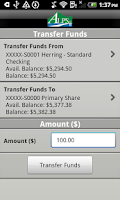 Screenshot of ALPS Mobile Banking