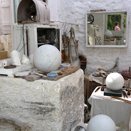 Barbara hepworths studio by Sally North - Novices Only Objects & Still Life