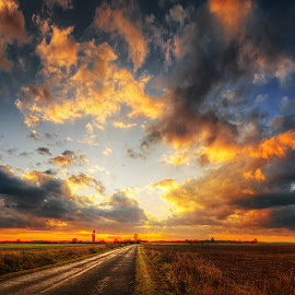 Hungarian skies pt.7. by Zsolt Zsigmond - Landscapes Prairies, Meadows & Fields ( clouds, sky, hdr, sunset,  )